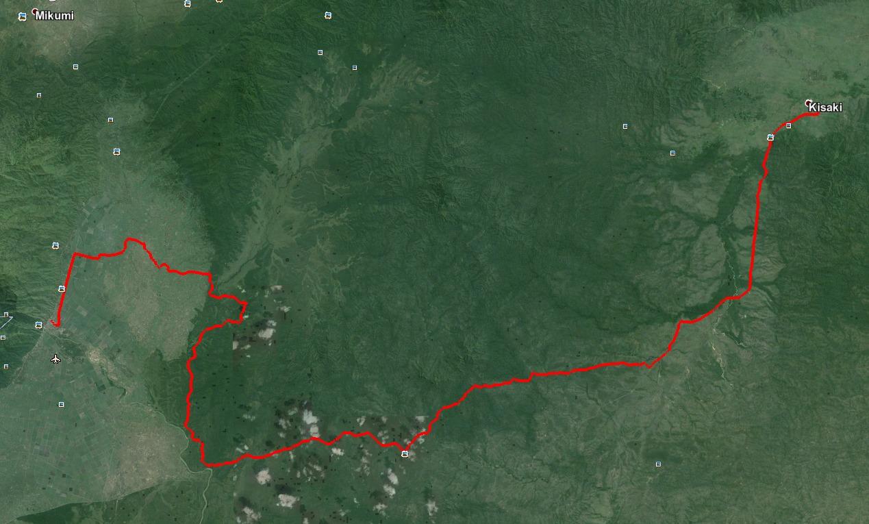 Satelite map of Mikumi Road